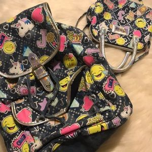 Girls justice backpack and matching purse